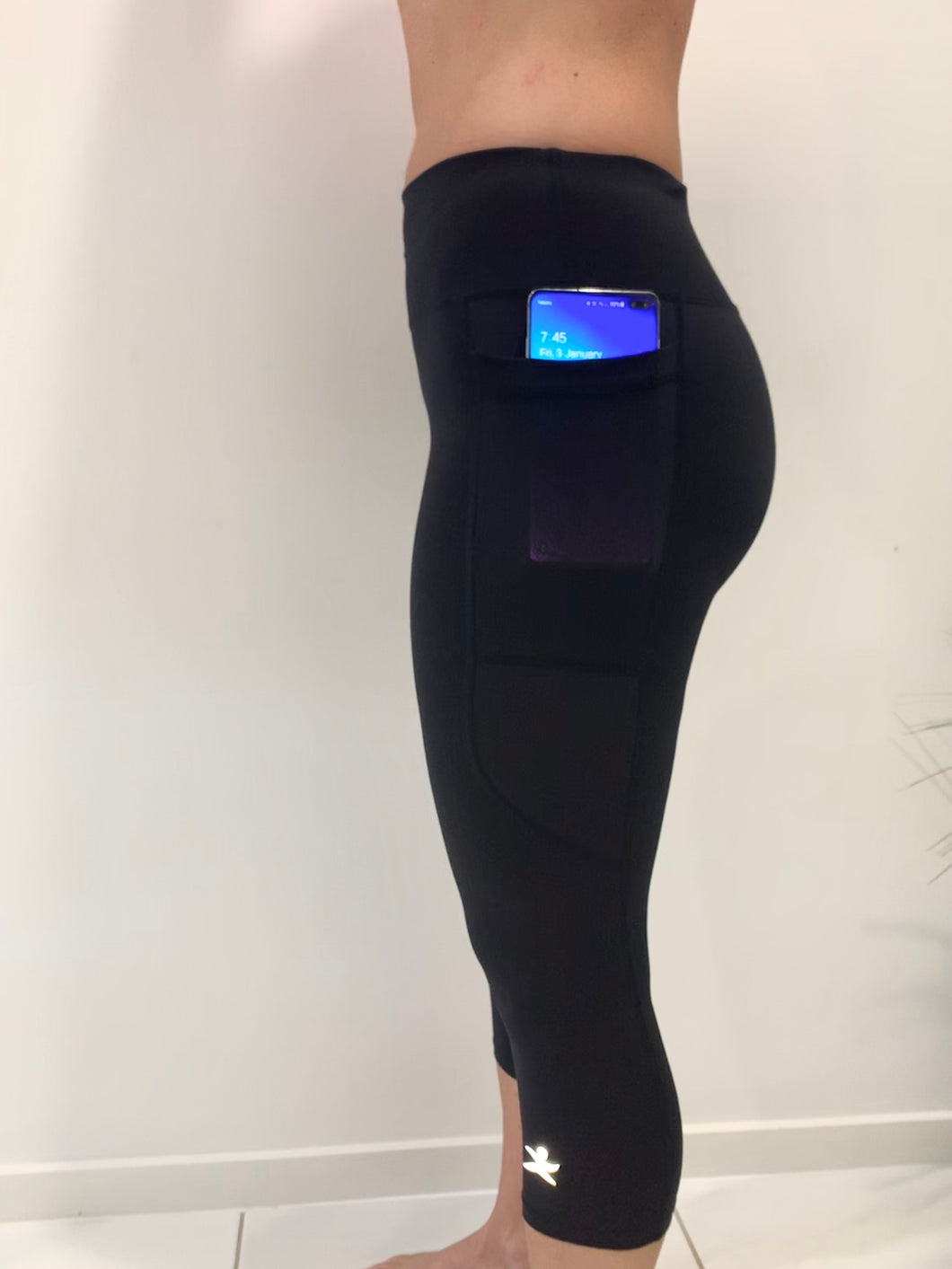 Gmaxx 'ATTACK BLACK' Active 3/4 Leggings