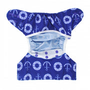 Alva Baby One Size Nappy Cover- Anchors Away