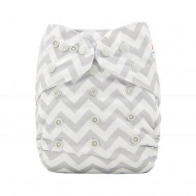 Alva Baby One Size Nappy Cover- Chevron