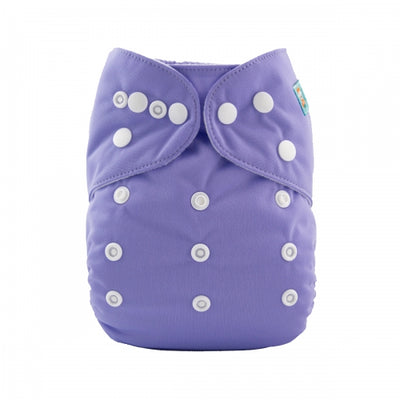 Alva Baby One Size Pocket Nappy - Purple