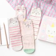 Pink Kitty Box- 4 pairs (sizes 1-8 yrs)