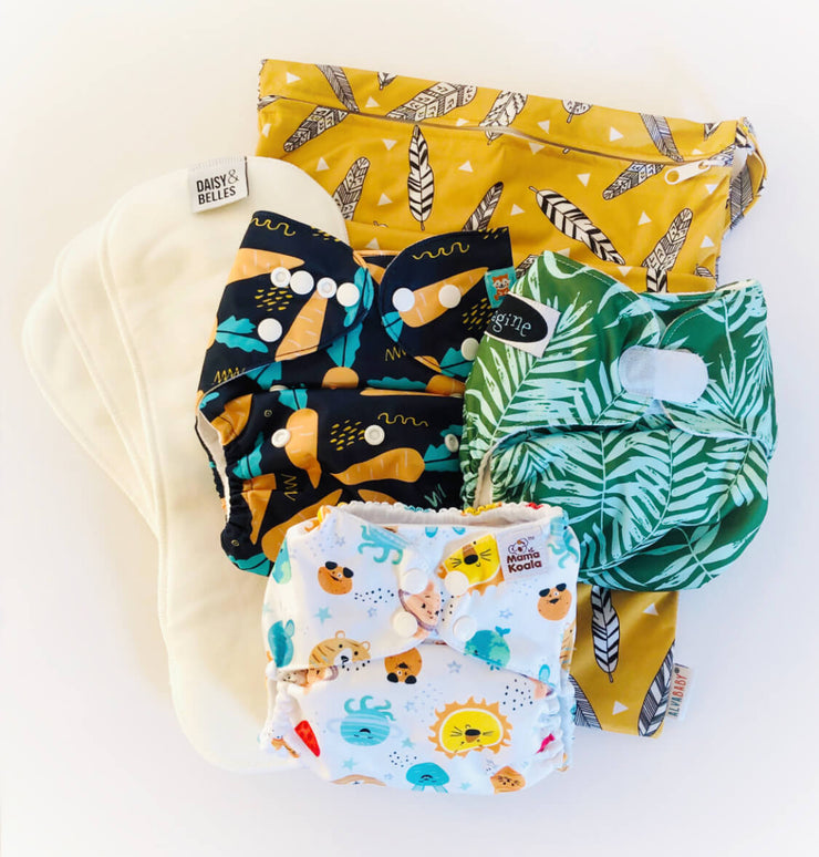 Assorted Cloth Nappy Starter Bundle
