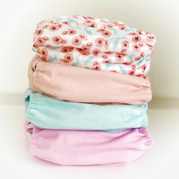 Alva Baby Nappy Pack - Peachy Blossoms Pack
