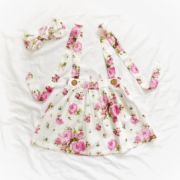 Suspender Skirt- Floralie
