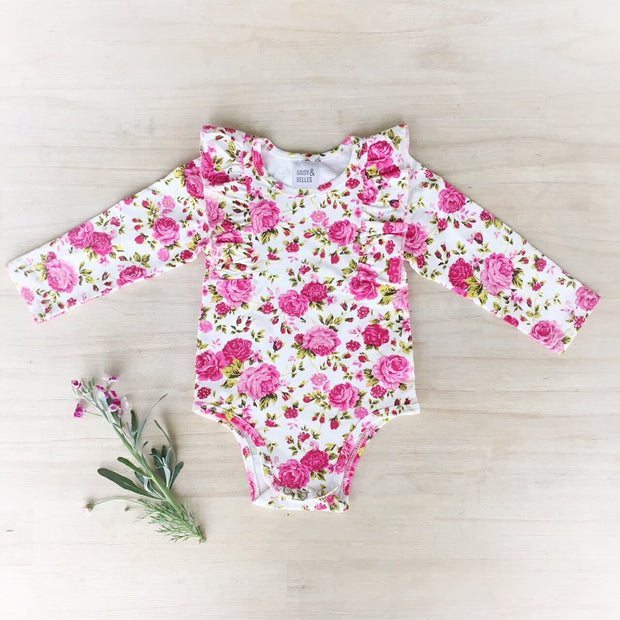 Long Sleeve Flutter Onesie / Top