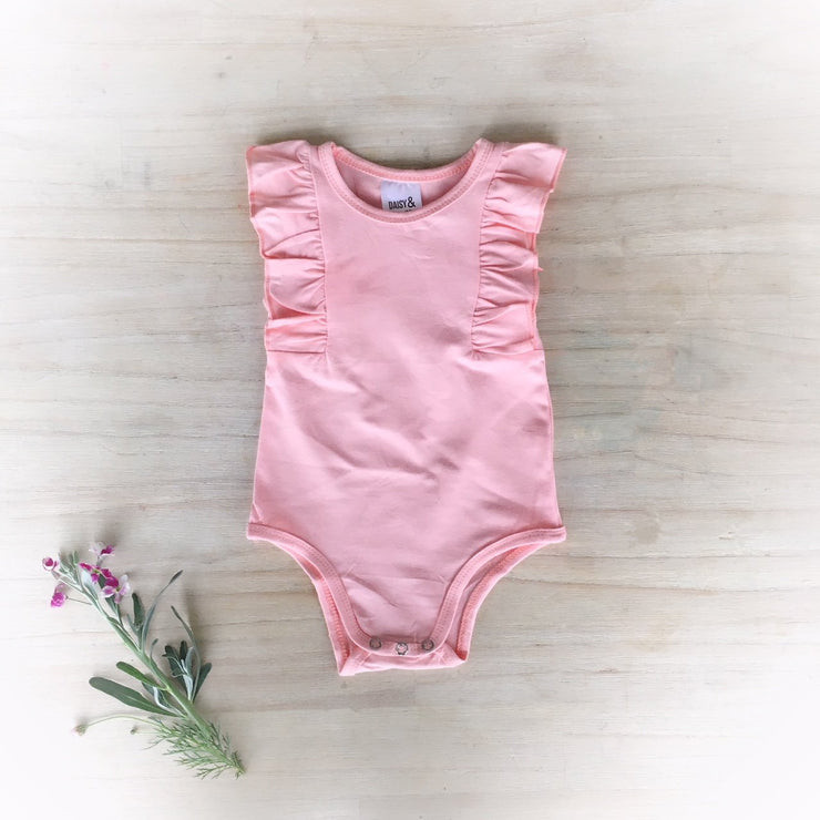 Sleeveless Flutter Onesie / Top