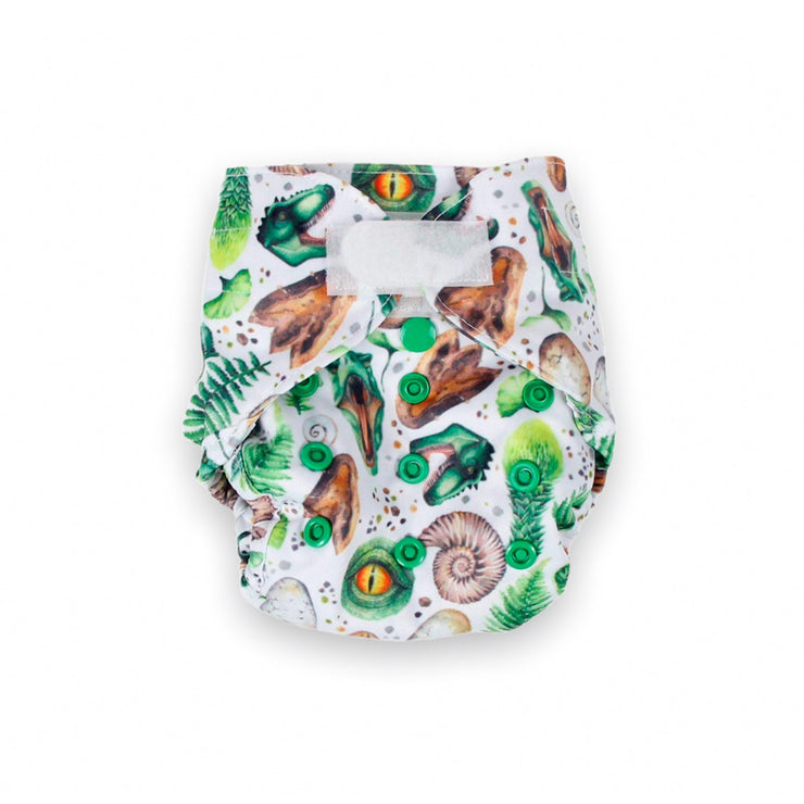 Junior Tribe Newborn Nappy - Dino Pride
