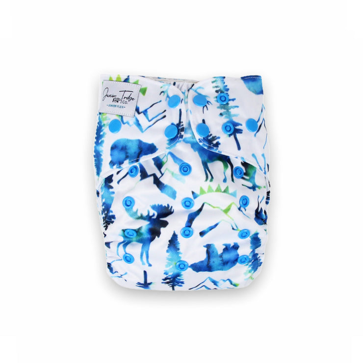Junior Flex Cloth Nappy - Wild Blue