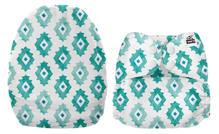 NEW Mama Koala Pocket Nappy - Abstract Shapes (MINKY)