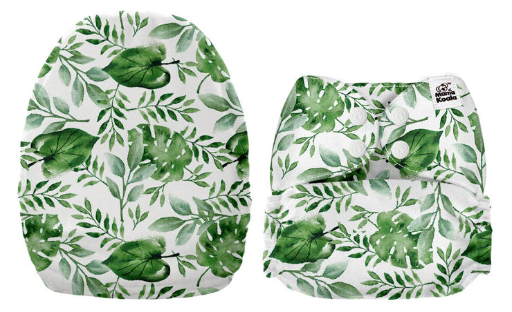 NEW Mama Koala Pocket Nappy - Tropical Forest (MINKY)