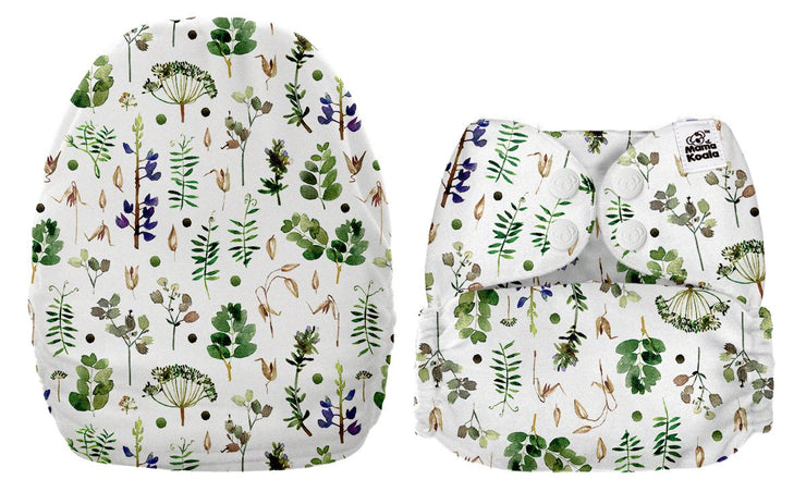 NEW Mama Koala Pocket Nappy - Botanical (MINKY)