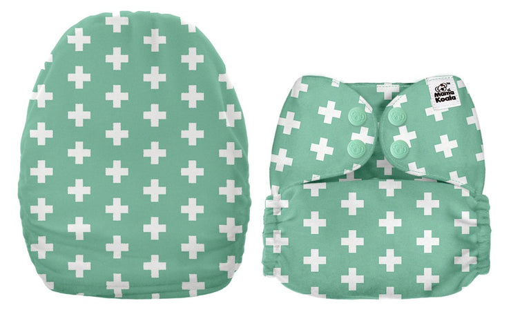 NEW Mama Koala Pocket Nappy - Mint (MINKY)
