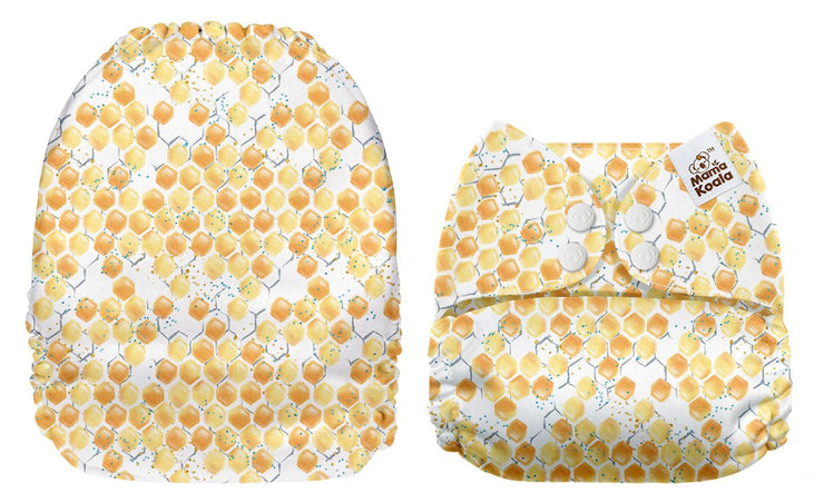 NEW Mama Koala Pocket Nappy - Sweet Honeycomb