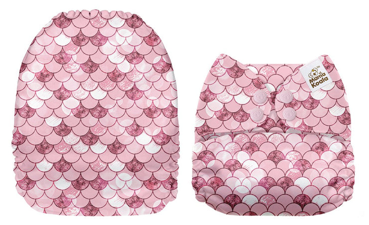 NEW Mama Koala Pocket Nappy - Pink Mermaid