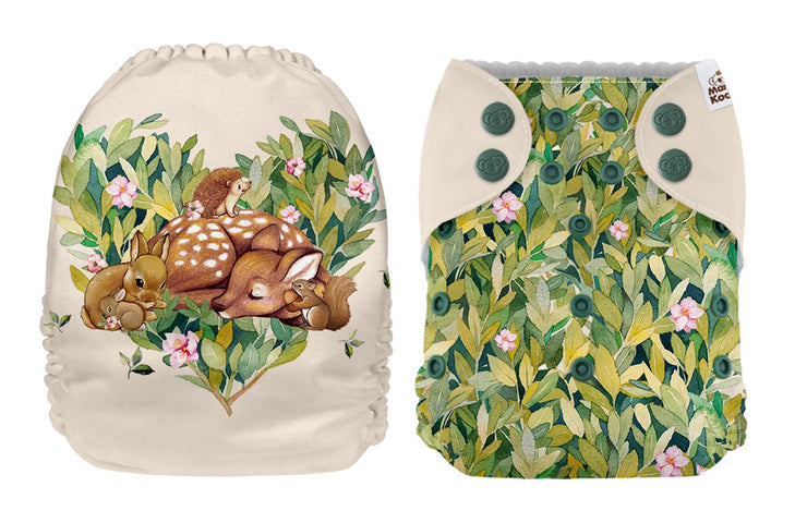 NEW Mama Koala Pocket Nappy - Bambi (POSITION PRINT)