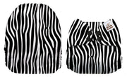 NEW Mama Koala Pocket Nappy - Zebra Stripes