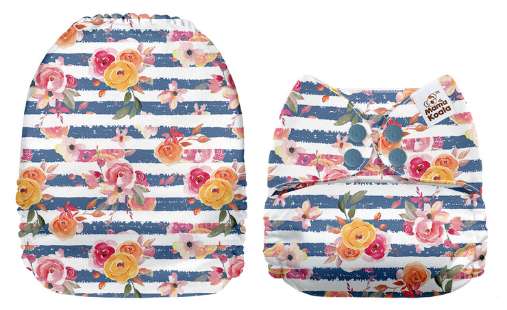NEW Mama Koala -  Floral and Blue Stripes