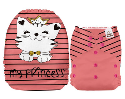 NEW Mama Koala Pocket Nappy - Princess Kitty (POSITION PRINT)