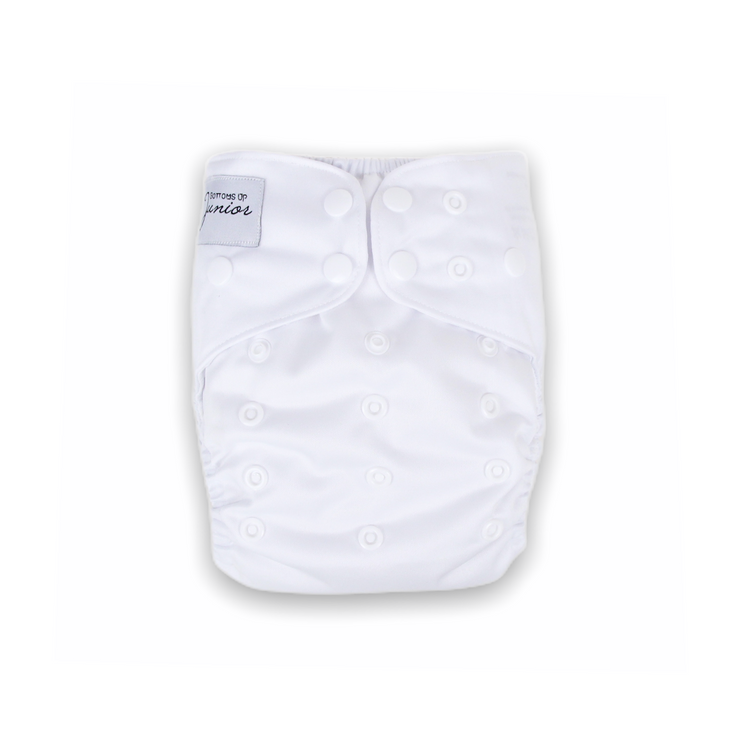 Junior Tribe Flex Cloth Nappy - Polar White