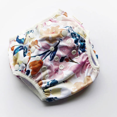Sunshine Floral-  Bare and Boho One Size Swim Nappy