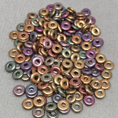 5 Grams Metallic Czech O Ring Glass Beads