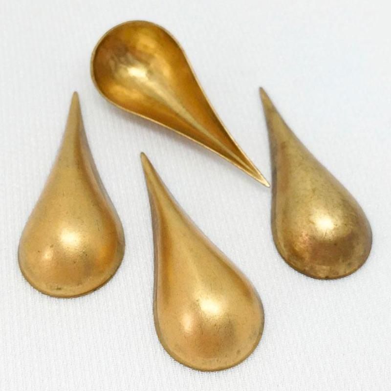 8 Vintage Brass Metal Petal Findings