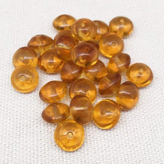 25 Golden Topaz Czech Rondelle Glass Beads