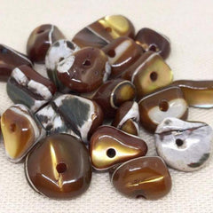 20 Caramel Mother of Pearl Beads