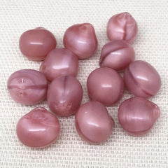 12 Mixed Vintage Pink German Glass Drop Beads