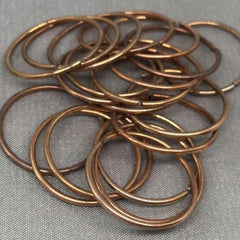 20 Vintage Brass Open Metal Rings