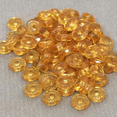 100 Golden Topaz Czech Rondelle Disc Glass Beads