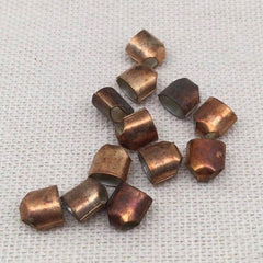 12 Vintage Copper Plated Bead Caps