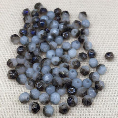 100 Opal Blue Czech English Cut Glass Beads Azure