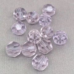 10 Vintage Alexandrite German Faceted Glass Beads