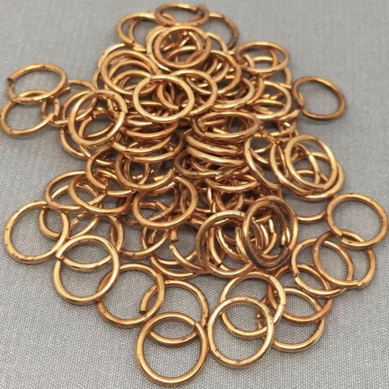25 Vintage Brass Jump Rings
