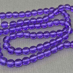 100 Grape Purple Czech Round Glass Beads