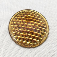 1 Vintage Gold Czech Bike Reflector Cabochon