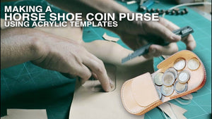Making a horse shoe coin case • Leather craft video tutorial