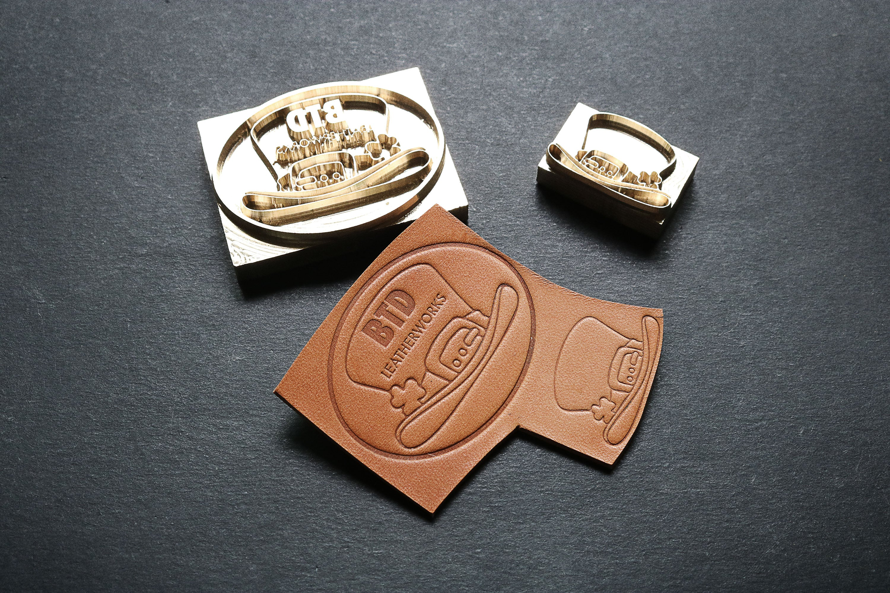 custom made stamps for leather made by am-leathercraft.com