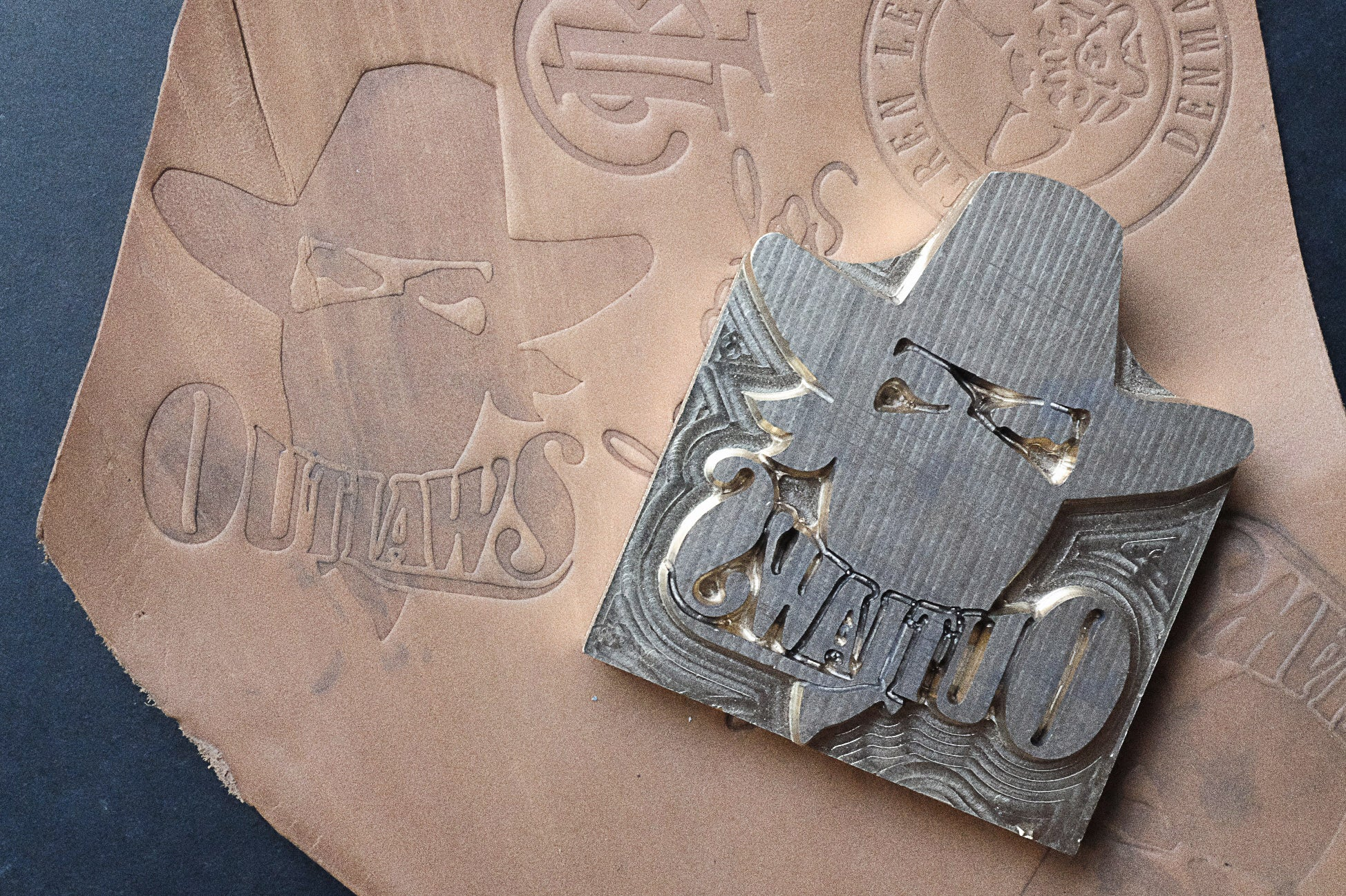 Get your custom-made stamp made by Am-leathercraft for your leather projects