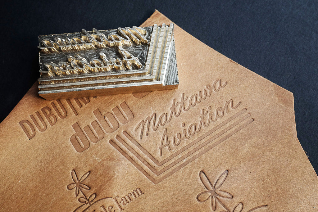 Get your custom-stamp made for your leather projects at AM-leathercraft.com