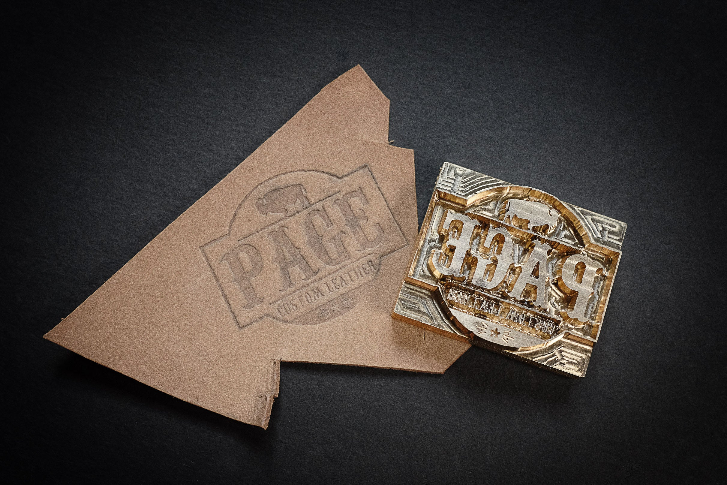 Order custom-made stamps for your leather project on Am-leathercraft.com