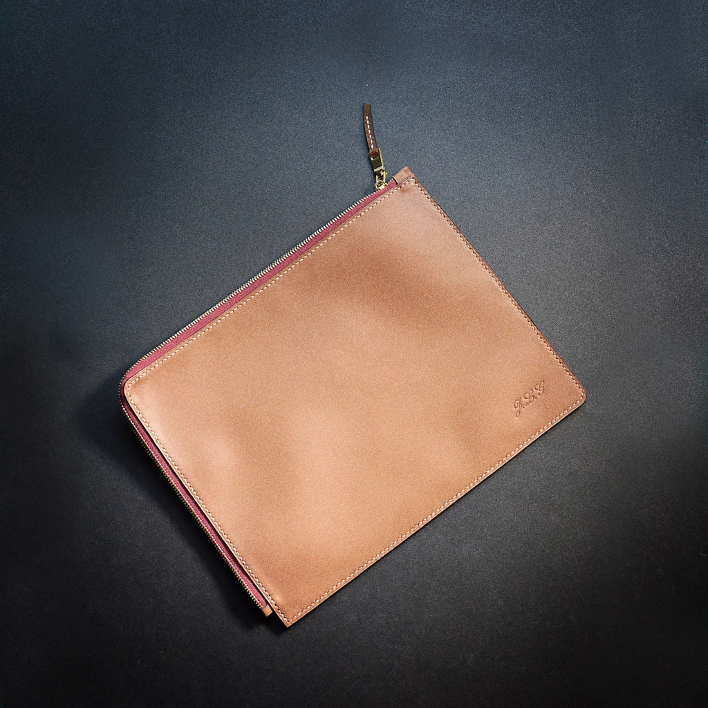 How to make a zipper leather pouch?
