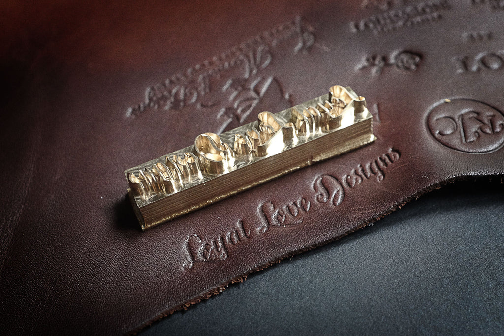 Get your custom-stamp made for your leather projects on Am-leathercraft.com