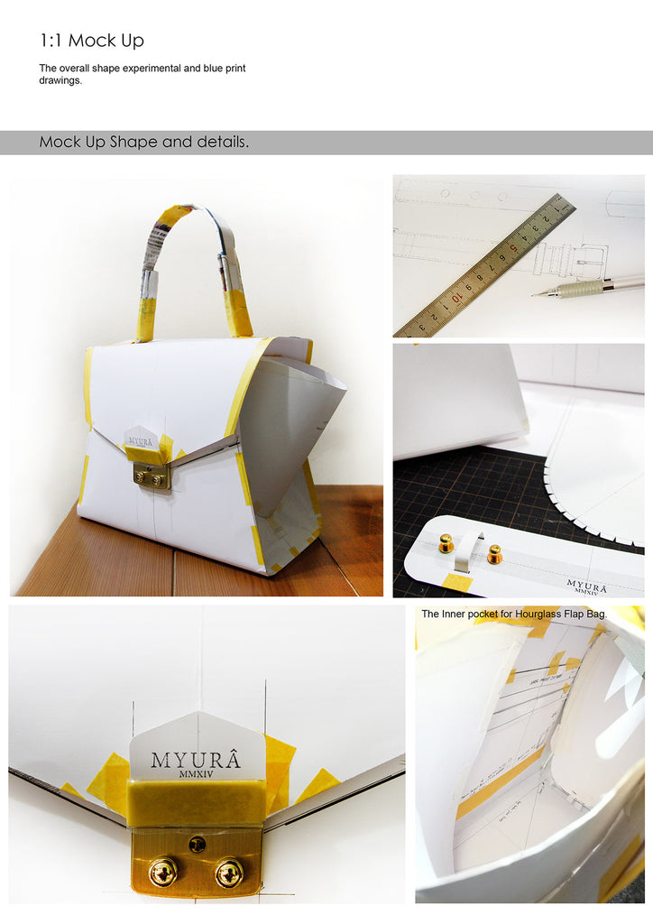 Myura leather good made to measure hourglass bag