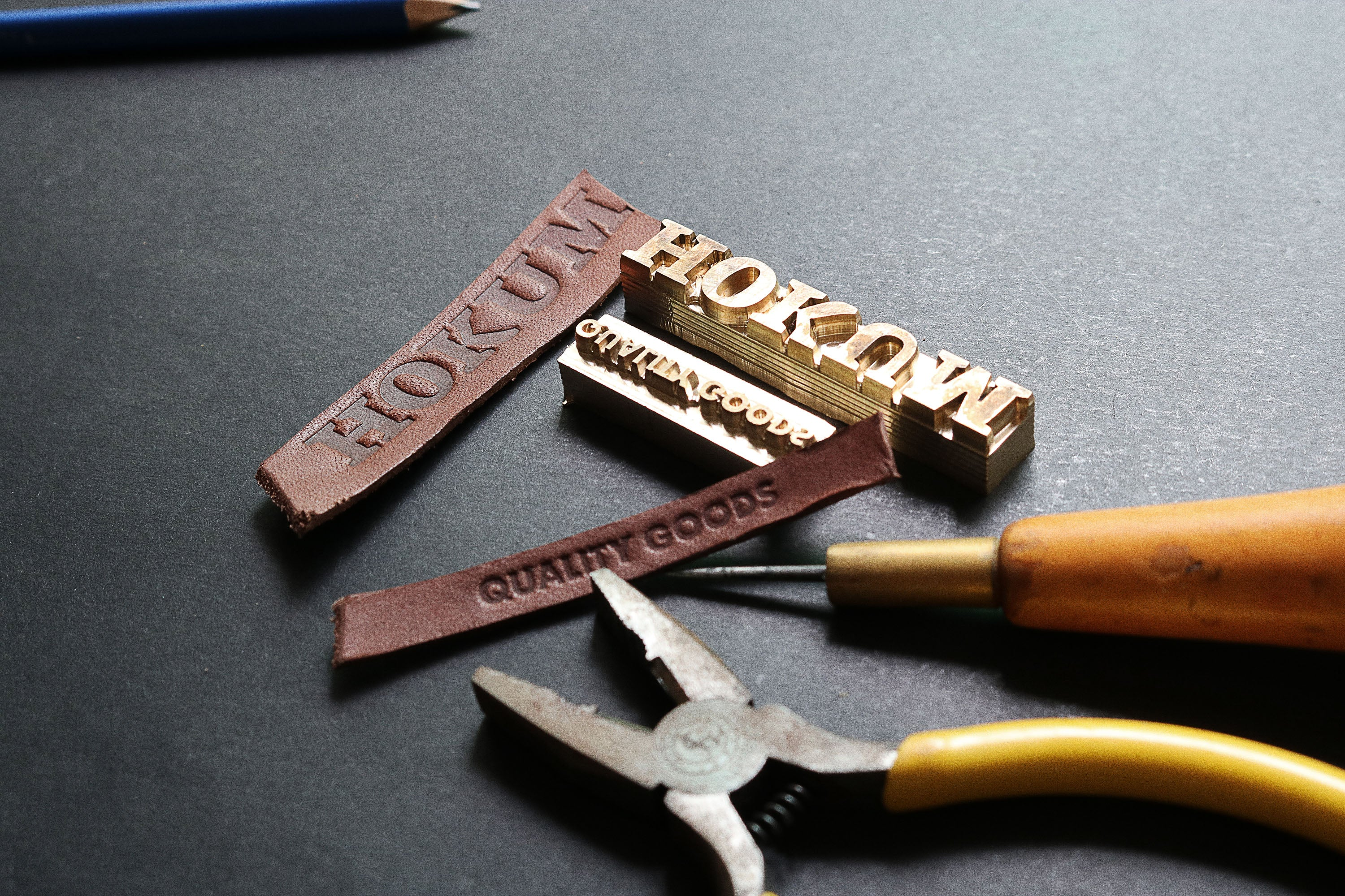 Leather stamp making, professional quality at affordable price