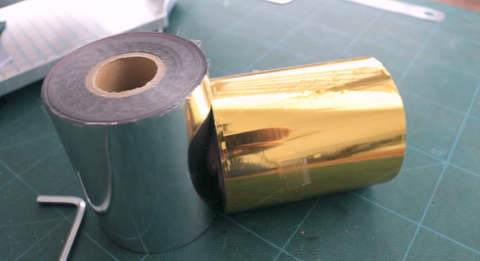 Silver and gold foil for leather stamping machine