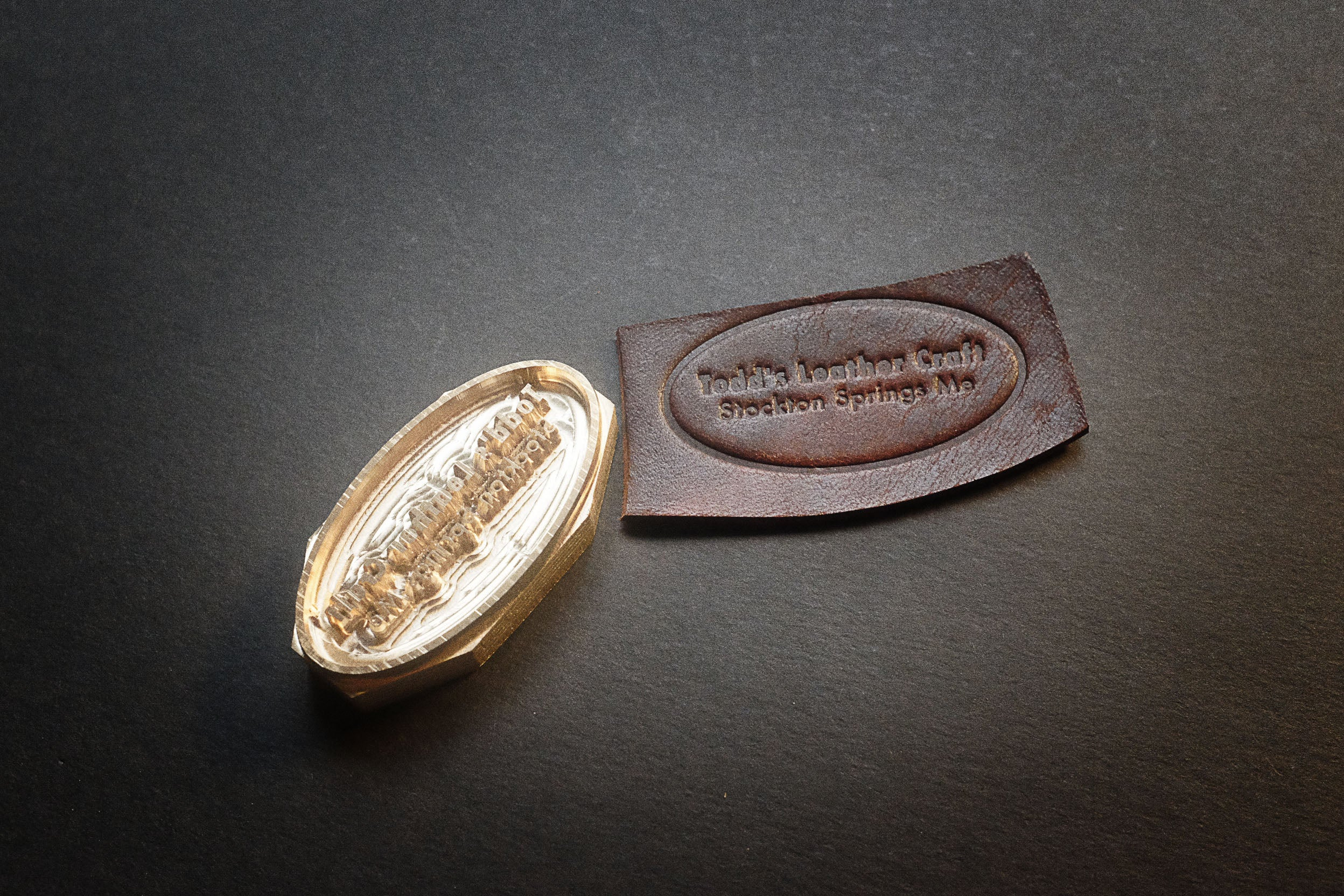order custom-made stamps for your leather projects on am-leathercraft.com