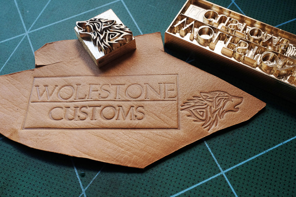 Get you custom-made stamps for leather made on Am-leathercraft.com