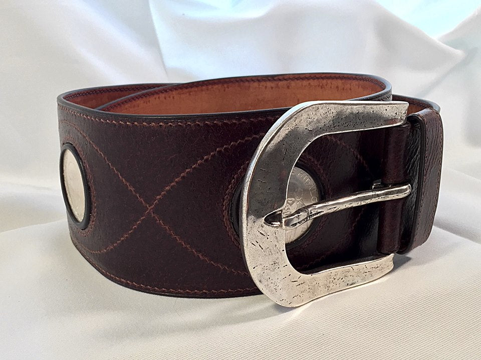 hand stitched belt by Vladimir Petrov